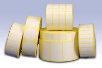 Этикетка  30х20мм, 40х25мм, 52х30мм, 58х40мм бумажная и полиэтиленовая в рулоне