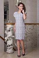 Летнее женское платье с модным узором из штапеля