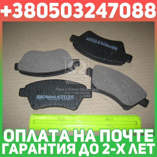 ⭐⭐⭐⭐⭐ Колодки тормозные РЕНО KANGOO передние (производство  Intelli)  D202E