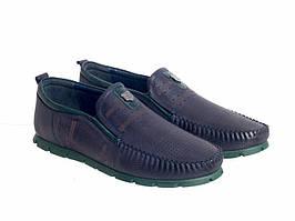 Мокасины Etor 15444-16654-98017 40 синие