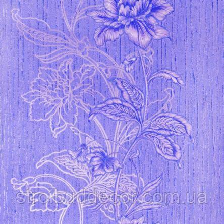 Обои Бумажные акриловые 0,53*10,05 Слобожанские узор цветы в полосу