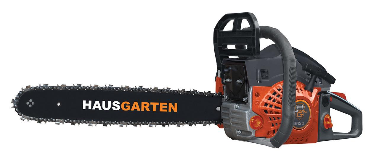 Бензопила цепная HAUSGARTEN HG-CS51, 45см, 2,2 кВт +очки, перчатки