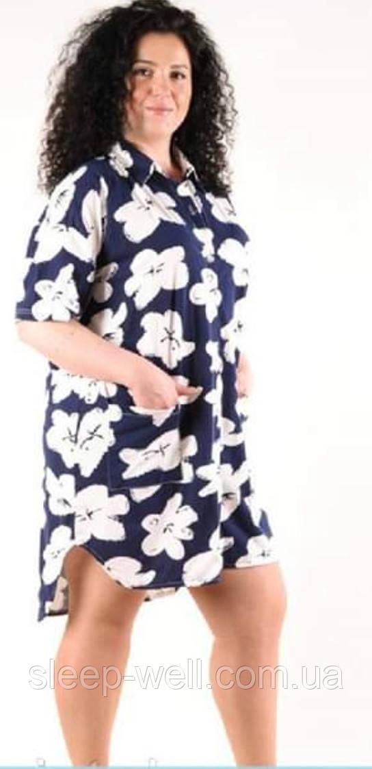 Туника - халат на пуговицах