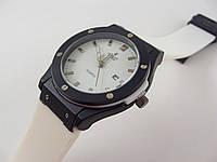 Наручные мужские часы Hublot Geneve 013237 черные с белым, водонепроницаемые с календарем