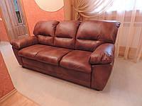 Кожаный диван.,кожаная мебель,кожаный розкладной диван