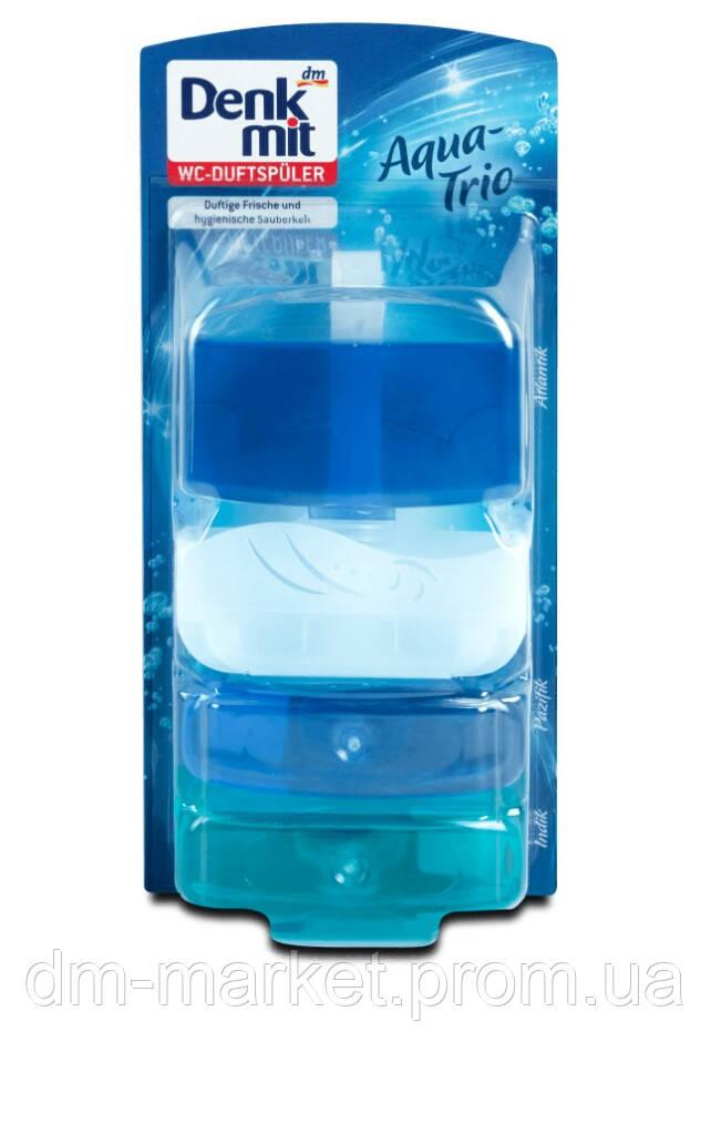 Подвесной блок для унитаза (2 вида) Denkmit WC Trio 165 ml + 2 запаски