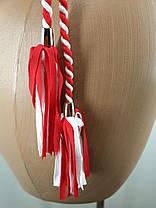 Красный купальник с пушап Шнуры электрик 5193 на 44 46 50 52 размеры., фото 2