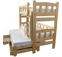 """Двухъярусная кровать  из дерева """"Ниагара"""""""