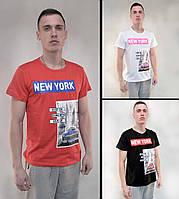 Футболка мужская с коротким рукавом и принтом New York M - XXL