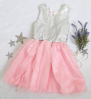 Детское платье Барби, на худенькую девочку, р. 104, розовый, фото 1