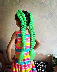 Канекалон (неоново-зелёный) 65*130 см, фото 3