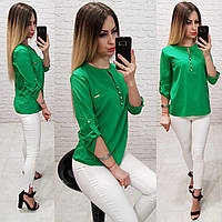 Блуза / блузка арт. 830 зелений / зелений, фото 1