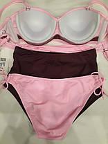 Купальник высокие плавки и обычные розовый 58822 на наш  48 50 размер., фото 2