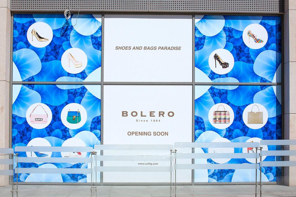 Оформление витрин бутик BOLERO
