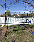 Гойдалки двомісні на ланцюгах, для всієї сім'ї., фото 5