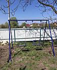 Качели двухместные на цепях, для всей семьи., фото 5
