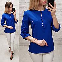 fc3fe53d82a Блуза   блузка арт. 830 ярко синего цвета   цвет электрик