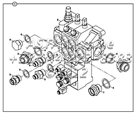 Погрузчик регулирующий клапан блок и переходник с джойстиком управления Е2-1-1-ЕП2