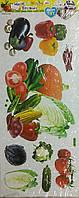Гелевые наклейки (Овощи)