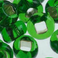 Бісер Preciosa Чехія №57120 зелений, блискучий