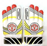 Перчатки вратарские детские MANCHESTER UNITED № 4 с защитой пальцев, фото 1