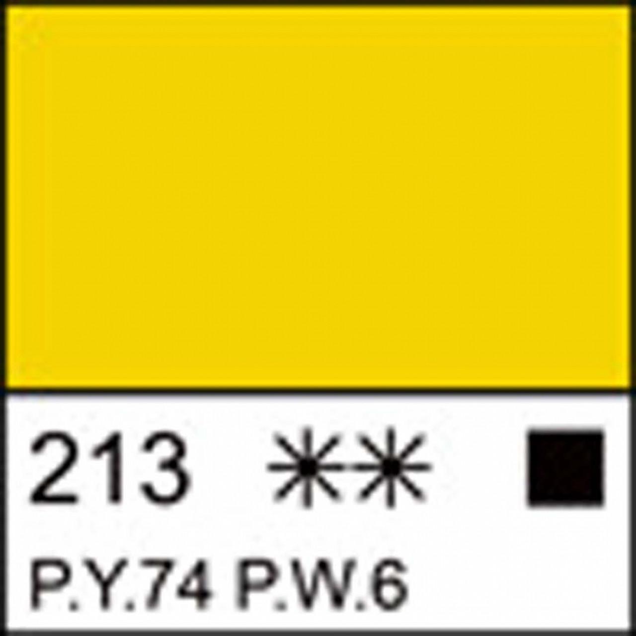 Фарба акрилова ЛАДОГА, жовта світла, 46мл