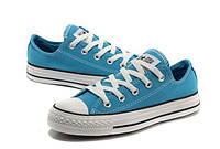 Женские кеды Converse All Star низкие голубые
