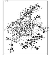 Экскаватор-регулирующий клапан блока и адаптеров, DIS10968 Е2-2-1