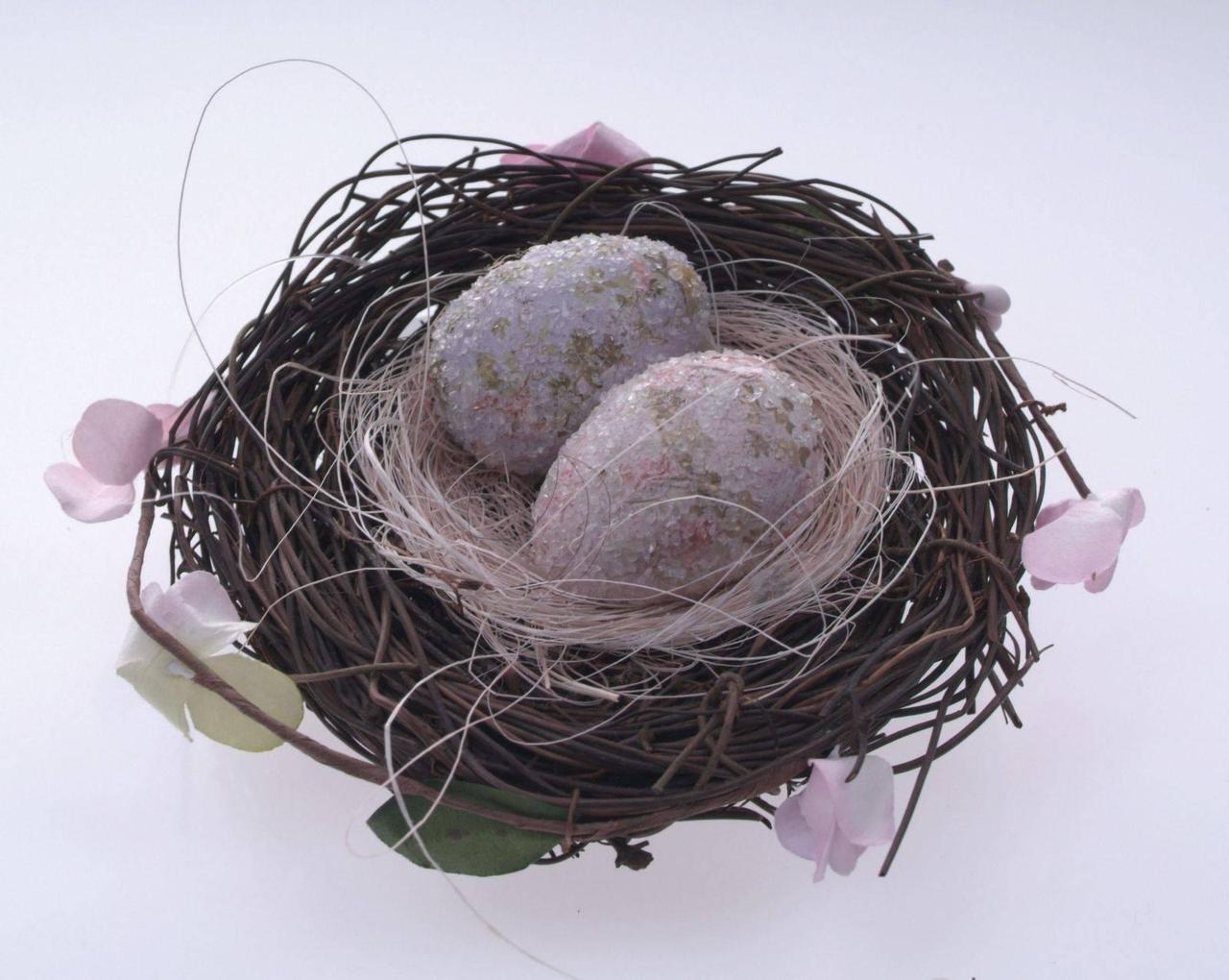 Декоративное украшение гнездышко пасхальное