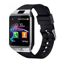 Смарт часы Smart Watch DZ09, Sim card + камера, silver