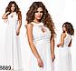Вечернее женское платье в пол с кружевом (черный) 828890, фото 4
