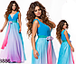 Выпускное длинное платье омбре без рукавов (розовый) 828887, фото 3