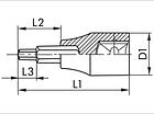 """Головка 3/8"""" с внешним шестигранным профилем. Шестигранная, метрическая Wurth, фото 2"""