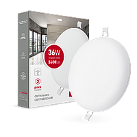 Светильник врезной MAXUS SP edge 36W, 4100К (круг)