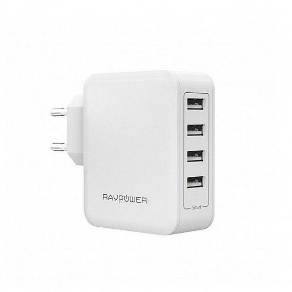 RAVPower USB 40W USB Plug Wall Charger White (RP-PC026WH)