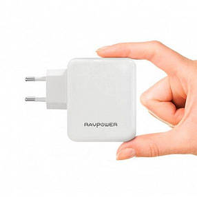 RAVPower USB 40W USB Plug Wall Charger White (RP-PC026WH), фото 2