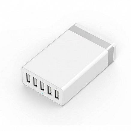 Сетевое з/у JUST Family Quint USB Wall Charger (8A/40W, 5USB) White (WCHRGR-FMLY-WHT), фото 2