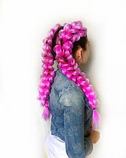 Канекалон (неоново-розовый) 65*130 см, фото 2