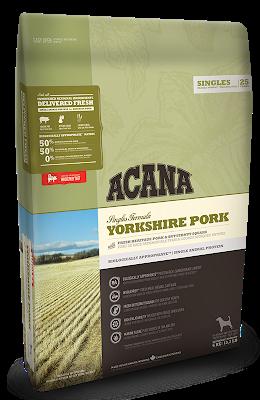 Корм Acana Yorkshire Pork Акана Йоркшир Порк для собак зі свининою і мускатним гарбузом 340  г