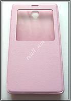 Сиреневый кожаный чехол-книжка для смартфона Xiaomi Redmi Note, фото 1