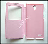 Сиреневый кожаный чехол-книжка для смартфона Xiaomi Redmi Note, фото 4