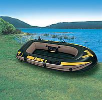 Двухместная надувная лодка Intex 236х114x41см Интекс 68346