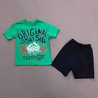 Костюм футболка и шорты на мальчика Краб р.92 (2 года)