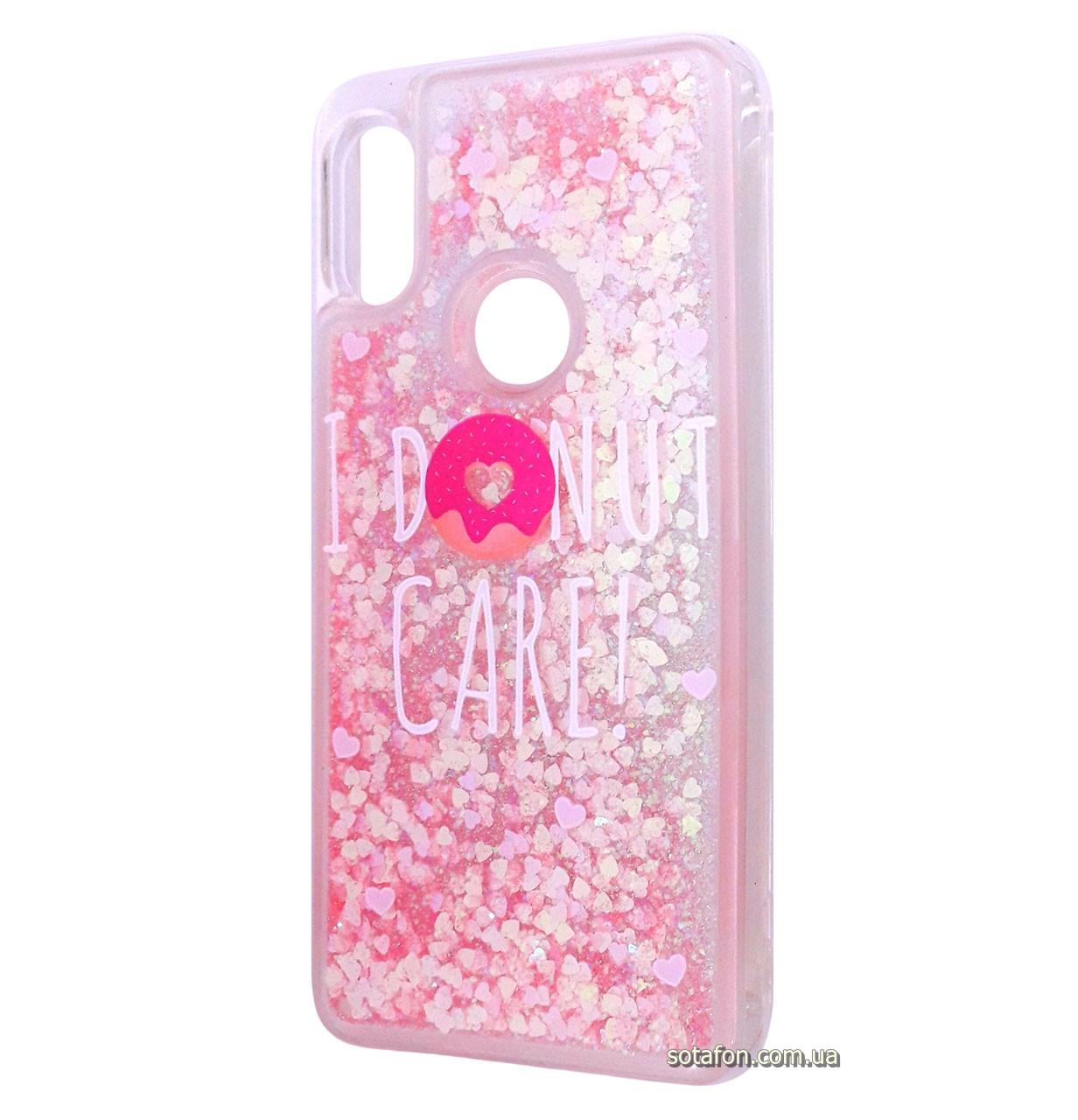 Чехол-накладка (Жидкий Блеск) I Donut Care! для Xiaomi Redmi Note 6 Pro Pink
