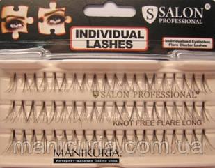 Накладные ресницы Salon Professional Knot Free Flare Long пучковые безузелковые длинные