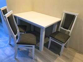 """Розкладний кухонний стіл """"Петрос"""" (білий або слонова кістка) 120*80см"""