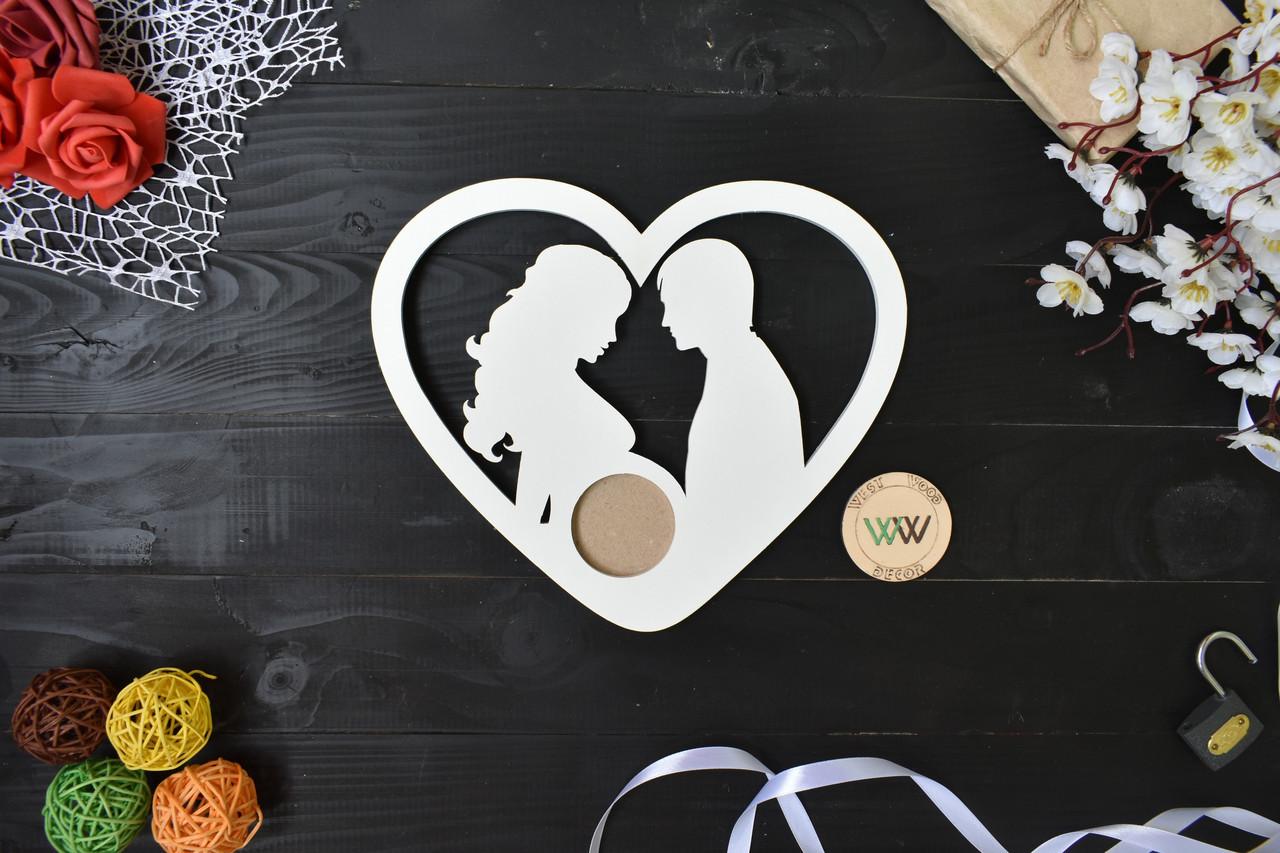 Рамка для снимка УЗИ пара в сердце