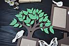 """Фоторамка из дерева """"Семейная с фамилией деревом и словами + листики"""" на 7 фото, фото 3"""