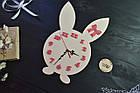 """Часы настенные """"Зайчик"""" в детскую комнату, девочке, часы ребенку, детские часы из дерева, фото 2"""