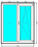 Металлопластиковое окно КВЕ 58 продам недорого Киев